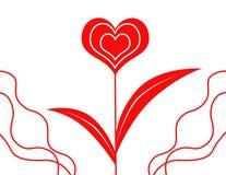 Fleur-coeur Image libre de droits
