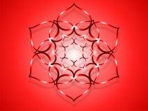Fleur coeur-rouge Photo libre de droits