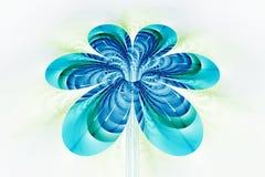 Fleur colorée abstraite sur le fond blanc Image libre de droits