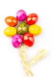 Fleur colorée d'oeufs Photographie stock