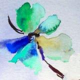 Fleur colorée de fond d'art d'aquarelle Images libres de droits