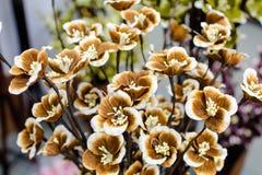 Fleur colorée de tissu Photographie stock libre de droits