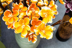 Fleur colorée de tissu Images libres de droits