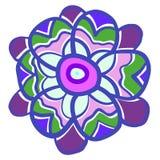 Fleur colorée drôle d'isolement sur le fond blanc Image libre de droits