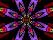 Fleur colorée (fractal40b) Image stock