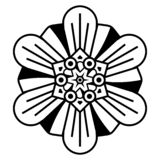 Fleur créative Mandala Ornaments Modèle oriental - vecteur illustration stock