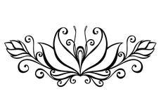 Fleur décorative avec des feuilles illustration libre de droits