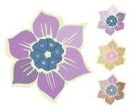 Fleur d'été de vintage d'isolement sur le fond blanc Illustration de Vecteur