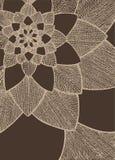 Fleur d'abrégé sur Zentangle Oeil de birdâs de Speedwell Illustration tirée par la main Ornement pour la carte de voeux Lignes be illustration stock