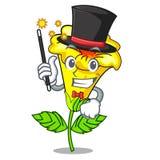 Fleur d'allamanda de magicien d'isolement dans la mascotte illustration de vecteur
