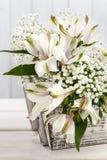 Fleur d'Alstroemeria généralement appelée le lis péruvien Image stock