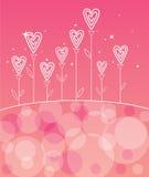 Fleur d'amour de Valentines Photos stock