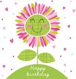 Fleur d'anniversaire illustration de vecteur