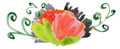 Fleur d'aquarelle Image libre de droits