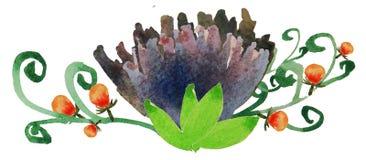 Fleur 3 d'aquarelle images stock