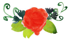 Fleur 4 d'aquarelle Image libre de droits