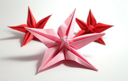 Fleur d'origami Photographie stock
