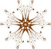 Fleur d'ornamental de cru Images libres de droits