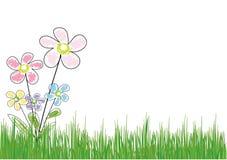 Fleur dans l'herbe Images libres de droits