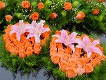 Fleur dans la réception de mariage Images libres de droits