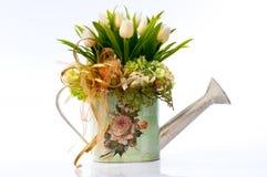 Fleur dans le vase à cru Photo libre de droits