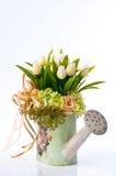 Fleur dans le vase à cru Image libre de droits