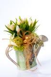 Fleur dans le vase à cru Images libres de droits