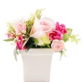 Fleur dans le vase Photo stock