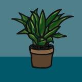 Fleur dans une illustration de vecteur de pot Image stock