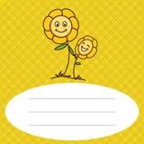 Fleur de bébé avec le fond de modèle Image stock
