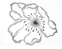 Fleur de broderie Images libres de droits
