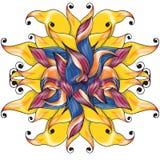 Fleur de caramel illustration de vecteur