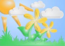 Fleur de carte postale Illustration Libre de Droits