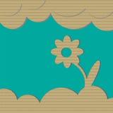 Fleur de carton Photo stock