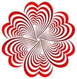 Fleur de coeur Image libre de droits
