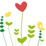 Fleur de coeur Photos libres de droits