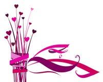 Fleur de coeur avec la proue illustration libre de droits