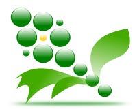 Fleur de dessin de vert de logo de société illustration stock