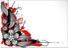 Fleur de fer sur le fond floral illustration de vecteur