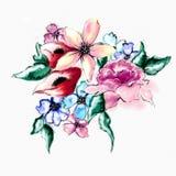 Fleur de fleur d'aquarelle Images libres de droits