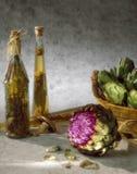 Fleur de fleur d'artichaut Image stock