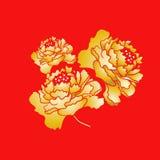 Fleur de floraison chinoise de pivoine de nouvelle année Photographie stock