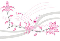 Fleur de fond, élément pour la conception, vecteur Illustration Stock