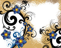 fleur de fond Image libre de droits