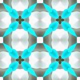 Fleur de forme de kaléidoscope d'aquarelle Images libres de droits