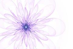 Fleur de fractale sur un fond avec les pétales transparents Photos stock