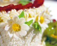 Fleur de givrage de gâteau Images libres de droits
