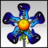 Fleur de guitare de roche bleue illustration libre de droits