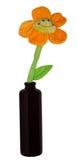 Fleur de jouet dans la bouteille images libres de droits