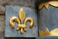 Fleur de Lis в замке Эдинбурга Стоковые Фотографии RF